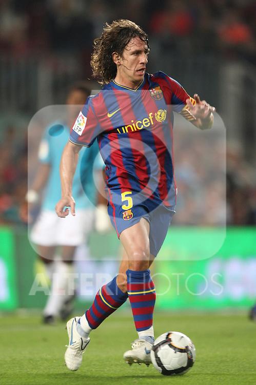 football barcelona - almeria  03-10-2009 season 2009-2010 spanish first division carles puyol