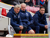 23rd May 2021; Anfield, Liverpool, England; EPL Premier League football, Liverpool versus Crystal Palace:  Crystal Palaces manager Roy Hodgson  during the Premier League match between Liverpool and Crystal Palace at Anfield