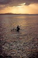 Dugout canoe, Papua New Guinea, Pacific Ocean