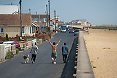 Brooklands Estate in Jaywick Sands, close to the Essex resort of Clacton-on-Sea.  The estate's small wooden houses - many little bigger than beach huts - were originally built as holiday homes. Brooklands is the most deprived ward in the UK, according to the latest Indices of Multiple Deprivation.