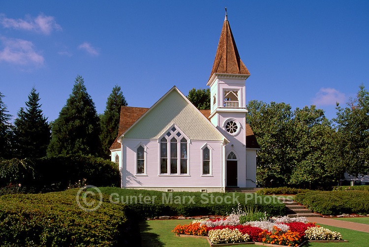 Richmond, BC, British Columbia, Canada - Historic Minoru Chapel in Minoru Park, a Heritage Building (built 1891)
