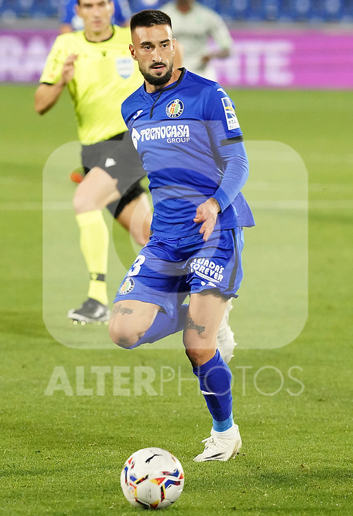 Getafe CF's Erick Cabaco during La Liga match. September 29,2020. (ALTERPHOTOS/Acero)