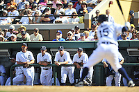 5 March 2009: Members of the Detroit Tigers watch play from the dugout during a Spring Training game against the Washington Nationals at Joker Marchant Stadium in Lakeland, Florida. The Tigers defeated the visiting Nationals 10-2 in the Grapefruit League matchup. Mandatory Photo Credit: Ed Wolfstein Photo