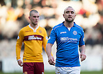 Motherwell v St Johnstone...31.01.15    SPFL<br /> Lee Croft<br /> Picture by Graeme Hart.<br /> Copyright Perthshire Picture Agency<br /> Tel: 01738 623350  Mobile: 07990 594431