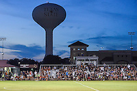 Spectators take part in cookie eating competition during the half of an NCAA soccer game, Sunday, September 21, 2014 in San Marcos, Tex. Texas defeated Texas State 2-0. (Mo Khursheed/TFV Media via AP Images)
