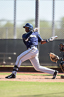 Milwaukee Brewers outfielder Monte Harrison (24) during an Instructional League game against the San Francisco Giants on October 10, 2014 at Maryvale Baseball Park Training Complex in Phoenix, Arizona.  (Mike Janes/Four Seam Images)