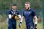 St Johnstone Training…31.07.19<br />Keepers Zander Clark and Max Johnstone pictured during training ahead of Saturday's opening game of the season at Celtic Park.<br />Picture by Graeme Hart.<br />Copyright Perthshire Picture Agency<br />Tel: 01738 623350  Mobile: 07990 594431