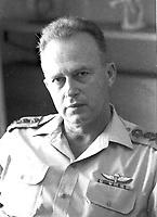 Itzhak Rabin Chief of Staff<br /> <br /> 16 SEPT 1967<br /> <br />                     Photo by [010] Hadani Dan