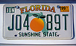 USA, Florida, Nummernschild | USA, Florida, license plate