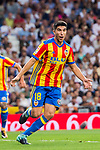 Carlos Soler Barragan of Valencia CF celebrates during their La Liga 2017-18 match between Real Madrid and Valencia CF at the Estadio Santiago Bernabeu on 27 August 2017 in Madrid, Spain. Photo by Diego Gonzalez / Power Sport Images