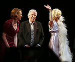 "Holley Fain, Henry Winkler and Anne Heche during the Roundabout Theatre Company One-Night Only Benefit Reading Curtain Call for  ""Twentieth Century"" at Studio 54 on April 29, 2019 in New York City."