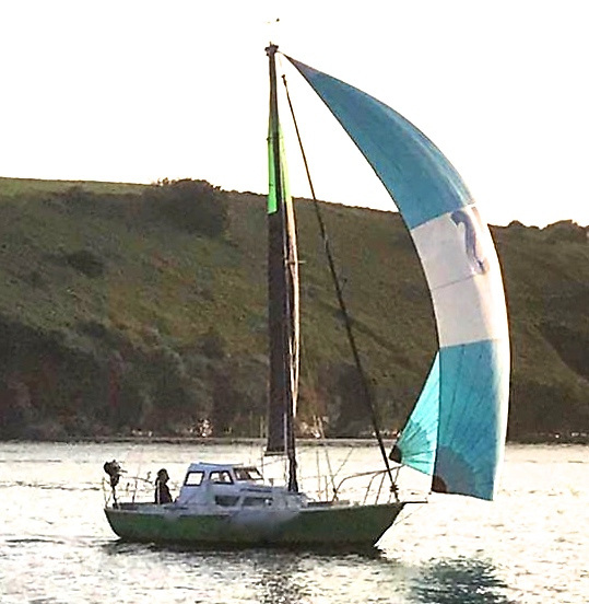 Successful Round Ireland non-stop voyager, Moonshine of Kinsale is a modified Hurley 22, built 1969