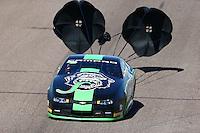 Feb 28, 2016; Chandler, AZ, USA; NHRA pro stock driver Alex Laughlin during the Carquest Nationals at Wild Horse Pass Motorsports Park. Mandatory Credit: Mark J. Rebilas-