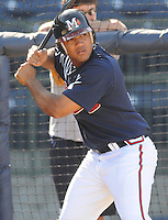 12 April 2008: Infielder Diory Hernandez (7) of the Mississippi Braves, Class AA affiliate of the Atlanta Braves, in a game against the Mobile BayBears at Trustmark Park in Pearl, Miss. Photo by:  Tom Priddy/Four Seam Images