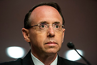Former United States Deputy Attorney General Rod Rosenstein testifies before a Republican-led US Senate Judiciary Committee hearing on ëCrossfire Hurricane,í the FBI's probe into Russian election interference and the 2016 Trump campaign in the Dirksen Senate Office Building in Washington, DC, USA, 03 June 2020.<br /> Credit: Jim LoScalzo / Pool via CNP/AdMedia