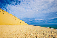 Huge sand dune cliffs and deserted beach, Long Nook Beach, Cape Cod National Seashore, Truro, Cape Cod, MA, USA
