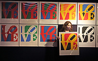 The Book of Love by Robert Indiana, est £60-80,000 at the Preview of Bonhams' Prints & Multiples sale. New Bond Street, London on Thursday December 10th 2020<br /> <br /> Photo by Keith Mayhew