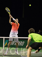 Rotterdam, Netherlands, 10 februari, 2019, Ahoy, Tennis, ABNAMROWTT,Austin KRAJICEK (USA) / Artem SITAK (NZL) Photo: Henk Koster/tennisimages.com