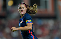 HOUSTON, TX - JUNE 13: Alex Morgan #13 of the United States during a game between Jamaica and USWNT at BBVA Stadium on June 13, 2021 in Houston, Texas.