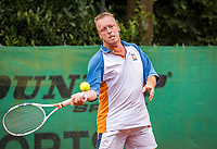 Hilversum, The Netherlands,  August 20, 2021,  Tulip Tennis Center, NKS, National Senior Tennis Championships, Men's 45+, Bas van den Berg (NED)<br /> Photo: Tennisimages/Henk Koster