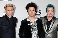 LOS ANGELES - NOV 20:  Mike Dirnt, Billie Joe Armstrong, TrŽ Cool, Green Day at the 2016 American Music Awards at Microsoft Theater on November 20, 2016 in Los Angeles, CA
