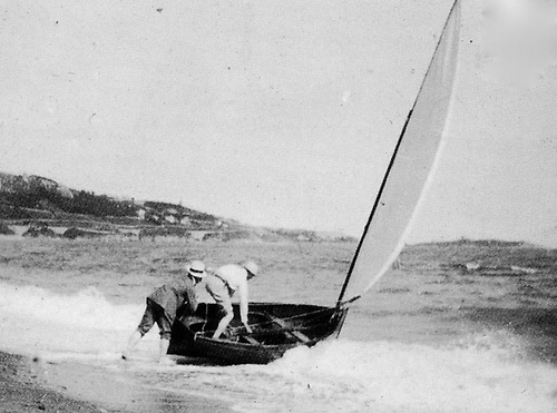 Water Wag pioneers launching off Shankill Beach