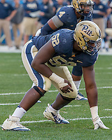 Pitt defensive lineman Shakir Soto. The Georgia Tech Yellow Jackets defeated the Pitt Panthers 56-28 at Heinz Field, Pittsburgh Pennsylvania on October 25, 2014.