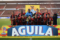 CUCUTA - COLOMBIA, 26-01-2019: Jugadores del Cúcuta posan para una foto previo al partido por la fecha 1 entre Cúcuta Deportivo y Rionegro Águilas como parte de la Liga Águila I 2019 jugado en el estadio General Santander de la ciudad de Cúcuta. / Players of Cucuta pose to a photo prior the match for the date 1 between Cucuta Deportivo y Rionegro Aguilas as a part of Aguila League I 2019 played at General Santander stadium in Cucuta city. Photo: VizzorImage / Manuel Hernandez / Cont
