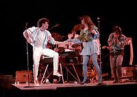 ROBERT CHARLEBOIS<br /> lors du spectacle de la fete nationale a Quebec, le 23 juin 1986<br /> <br /> PHOTO : Agence Quebec Presse