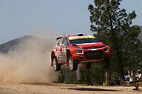 4th June 2021; Alghero, Sardinia; WRC rally of Italia Sardinia, stages  1-8;  Mads Otsberg-Citroen C3 WRC2
