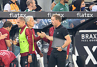 coach Julian NAGELSMANN r. (M) claps co-coach Xaver ZEMBROD (M) after the game, Soccer 1. Bundesliga, 01.matchday, Borussia Monchengladbach (MG) - FC Bayern Munich (M) 1: 1, on 08/13/2021 in Borussia Monchengladbach / Germany. #DFL regulations prohibit any use of photographs as image sequences and / or quasi-video # Â