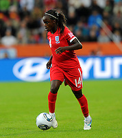 Eniola Aluko of team England during the FIFA Women's World Cup at the FIFA Stadium in Dresden, Germany on July 1st, 2011.