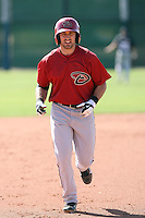Adam Eaton #10 of the Arizona Diamondbacks plays in a minor league spring training game against the San Francisco Giants at the Giants minor league complex on March 16, 2011  in Scottsdale, Arizona. .Photo by:  Bill Mitchell/Four Seam Images.