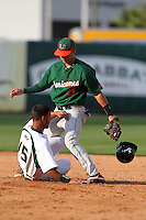 """Miami Hurricanes Stephen Perez #4 during a game vs. the University of South Florida Bulls in the """"Florida Four"""" at George M. Steinbrenner Field in Tampa, Florida;  March 1, 2011.  USF defeated Miami 4-2.  Photo By Mike Janes/Four Seam Images"""
