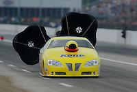 May 1, 2011; Baytown, TX, USA: NHRA pro stock driver Rodger Brogdon during the Spring Nationals at Royal Purple Raceway. Mandatory Credit: Mark J. Rebilas-