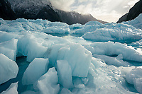 Afternoon light on Franz Josef Glacier, Westland Tai Poutini National Park, UNESCO World Heritage Area, South Westland, New Zealand, NZ