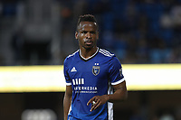 SAN JOSE, CA - AUGUST 13: Jeremy Ebobisse #11 of the San Jose Earthquakes during a game between Vancouver Whitecaps and San Jose Earthquakes at PayPal Park on August 13, 2021 in San Jose, California.
