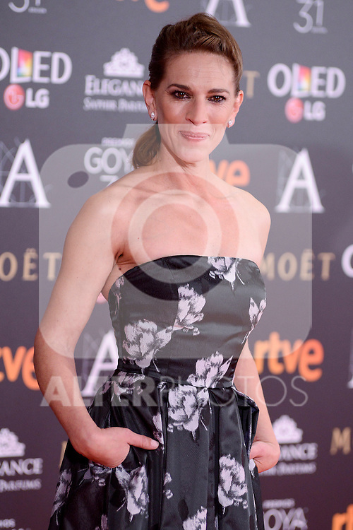 Laura Dominguez attends to the Red Carpet of the Goya Awards 2017 at Madrid Marriott Auditorium Hotel in Madrid, Spain. February 04, 2017. (ALTERPHOTOS/BorjaB.Hojas)