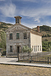 School House, Bannack, Montana, a ghost town preserved as a Montana State Park. Camping is peaceful, the town historic.  A remnant of Montana's gold mining history the park is west of Dillon, Montana a few miles off State Highway 278.  Masonic Lodge was upstairs.