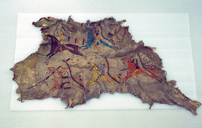 Using pictures painted on hides the Blackfeet recorded events and told stories