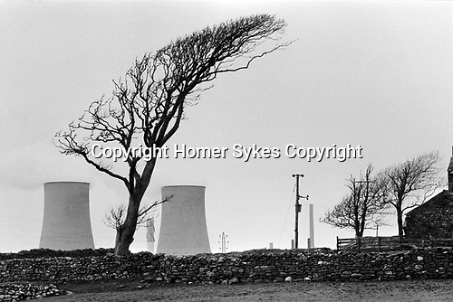 Windscale and Calder Nuclear processing plant 1980s Cumbria UK. British Nuclear Fuels. Formally known as Sellafield 1983.<br /> <br /> My ref 14/4545/, 1983