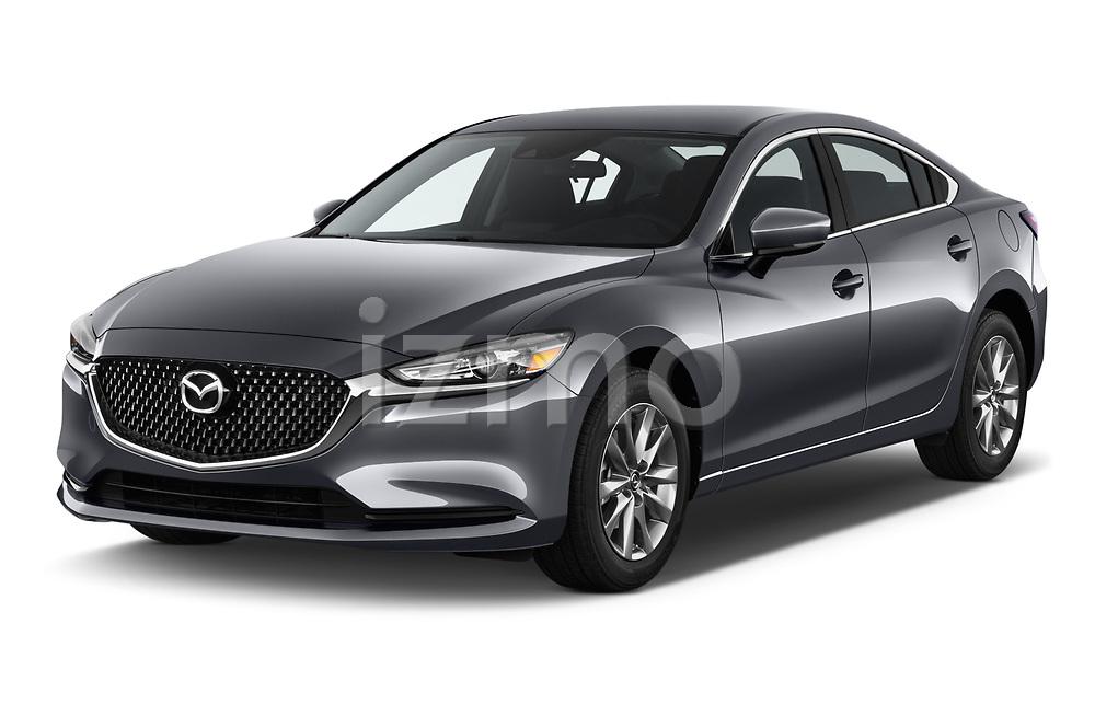 2019 Mazda Mazda6 Sport 4 Door Sedan angular front stock photos of front three quarter view