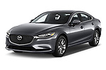 2019 Mazda Mazda6 Sport 4 Door Sedan angular front stock photos of front three quarter view