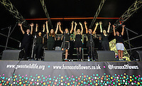 Pictured: Young people perform on stage Saturday 13 August 2016<br />
