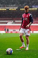 3rd October 2020; City Ground, Nottinghamshire, Midlands, England; English Football League Championship Football, Nottingham Forest versus Bristol City; Jack Colback of Nottingham Forest warms-up prior to the match