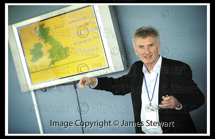 01/05/2008   Copyright Pic: James Stewart.File Name : 32_business_fair.FALKIRK BUSINESS FAIR 2008.SANDY ALEXANDER :: FOUNDER OF SCHUH.James Stewart Photo Agency 19 Carronlea Drive, Falkirk. FK2 8DN      Vat Reg No. 607 6932 25.Studio      : +44 (0)1324 611191 .Mobile      : +44 (0)7721 416997.E-mail  :  jim@jspa.co.uk.If you require further information then contact Jim Stewart on any of the numbers above........