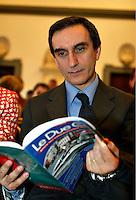 Roma 8/4/2004 Campidoglio - sala della Protomoteca. <br /> Liberta dietro le sbarre - presentazione del libro.<br /> Carmelo Cantone, direttore del carcere di Rebibbia <br /> Foto Andrea Staccioli Insidefoto