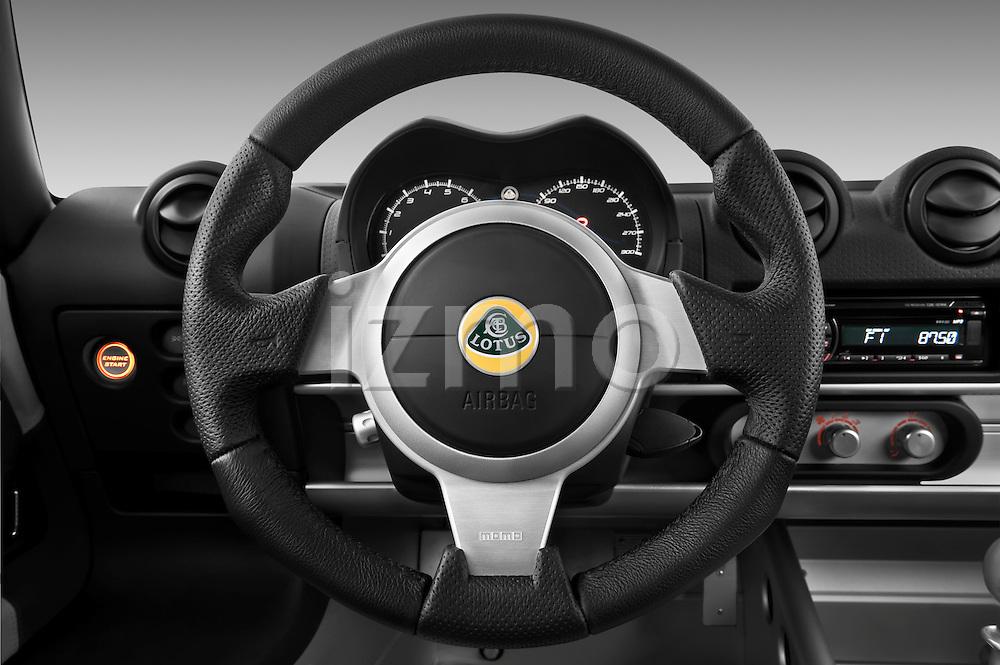 Steering wheel view of a 2009 Lotus Exige S 2 Door Coupe