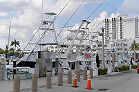 FORT LAUDERDALE, FL - APRIL 01: Tourism is dead as attractions and airports are either empty or closed in Florida as COVID-19 sweeps though the state on April 1, 2020 in Fort Lauderdale, Florida<br /> <br /> People: Fishing Boats