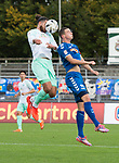 11.10.2020, Marschwegstadion, Oldenburg, GER, RL Nord,, Gruppe Süd VfB Oldenburg vs SV Werder Bremen U23,  DFL regulations prohibit any use of photographs as image sequences and/or quasi-video, im Bild<br /> Maik LUKOWICZ (VfB Oldenburg #16 ) <br /> Belal HALBOUNI (SV Werder Bremen U23 #13 )<br /> Foto © nordphoto / Rojahn